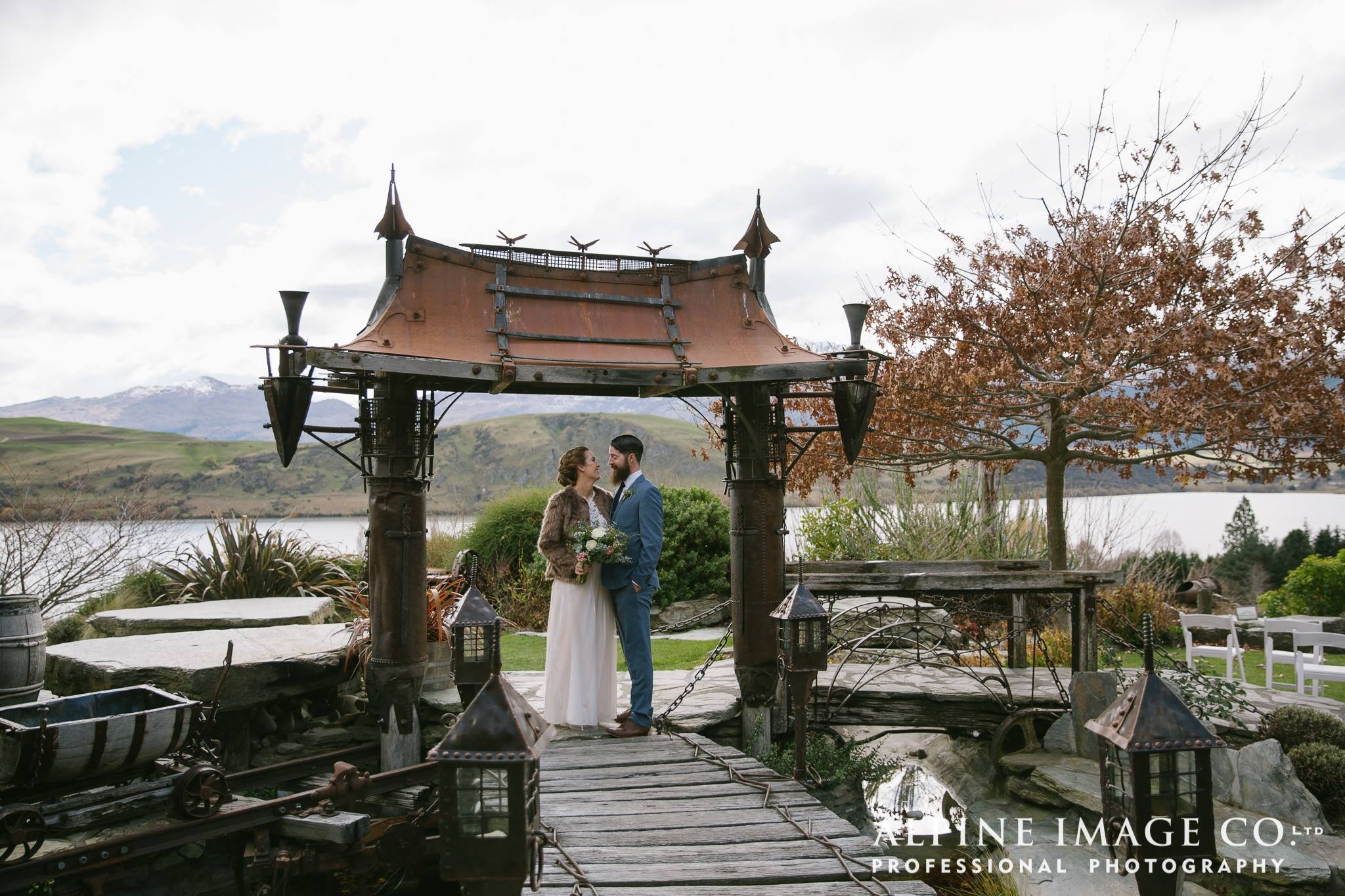 unique wedding venue set