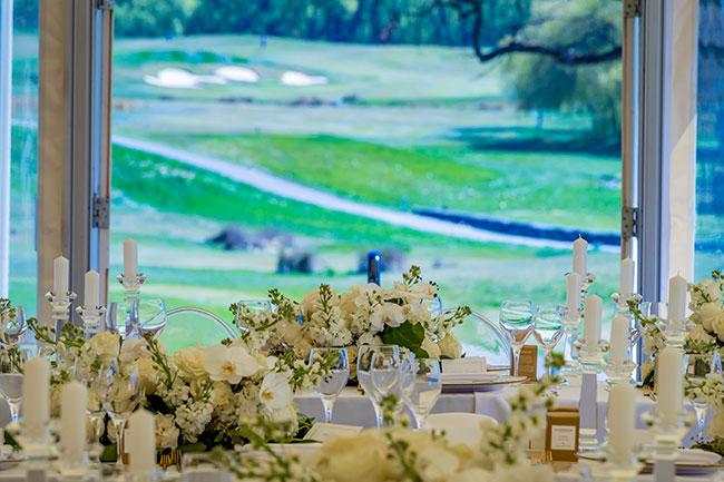 Millbrook Wedding setup