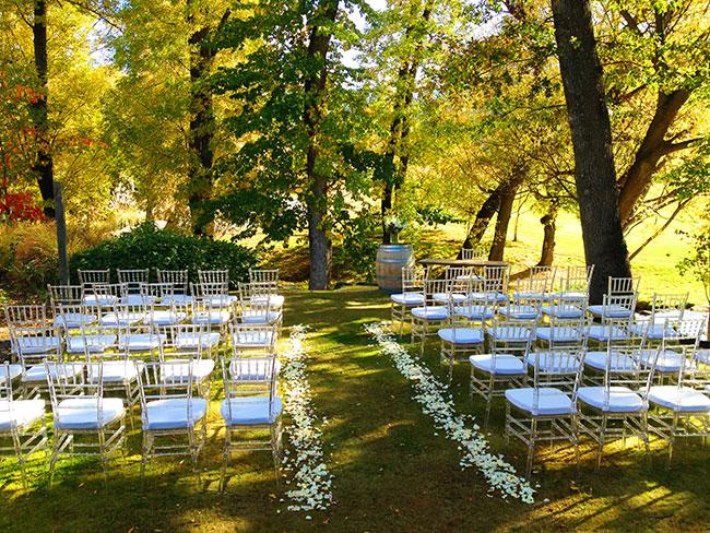 Garden Wedding setup