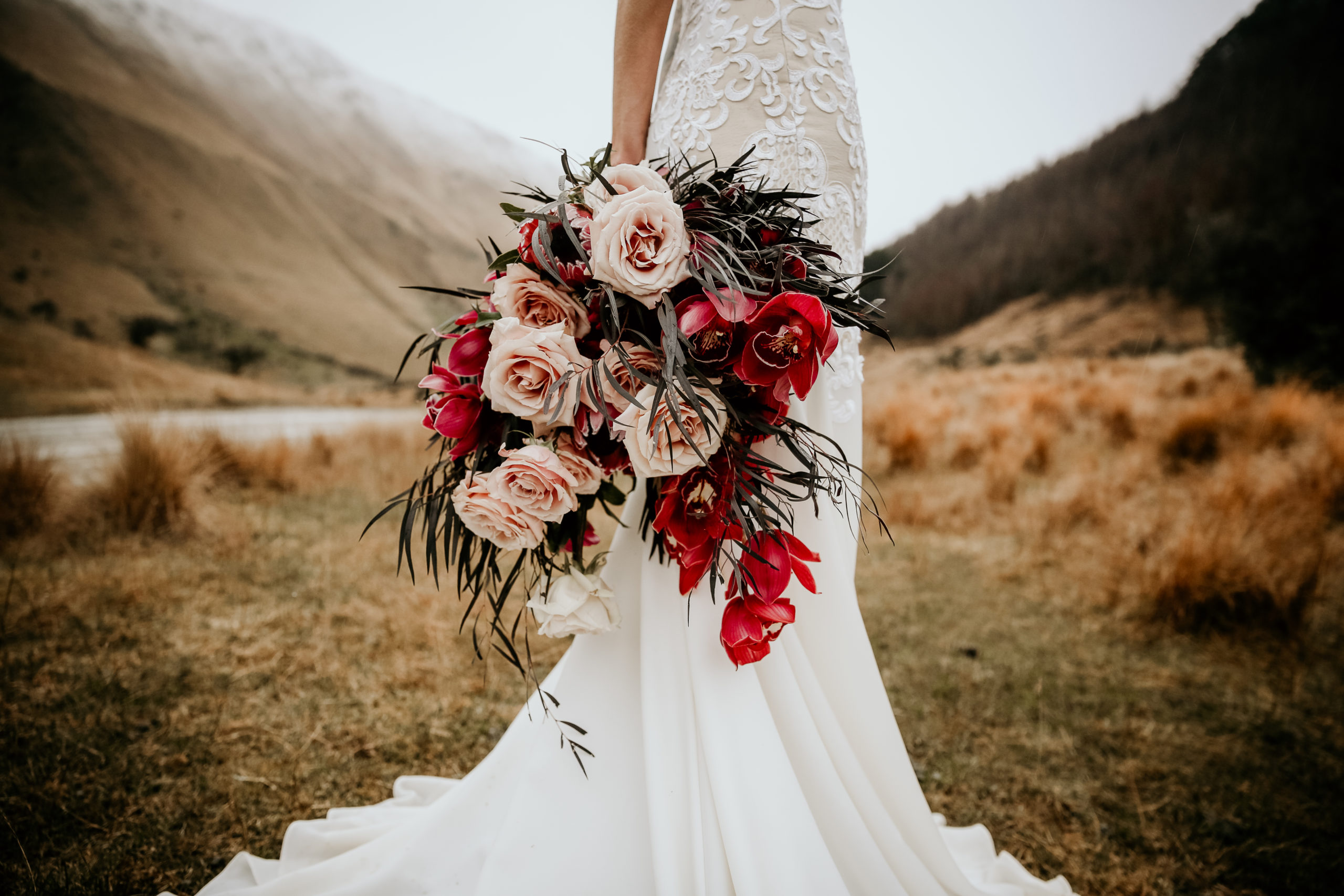 Bridal bouquet blush burgundy - Bespoke Weddings and Events
