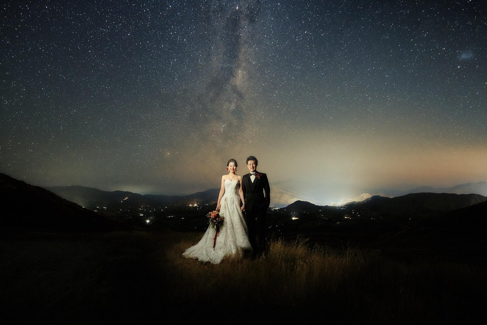 Queenstown Night Wedding