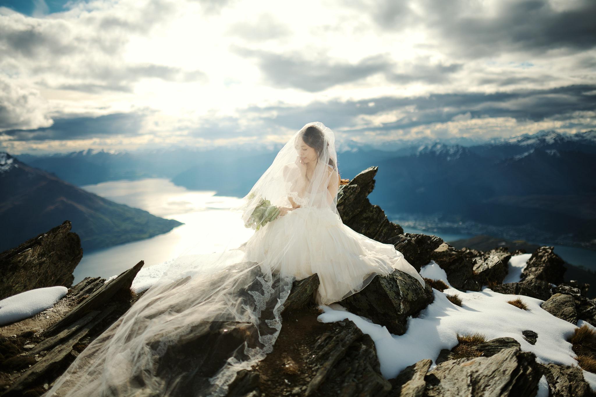 Mountain Top Heli Wedding