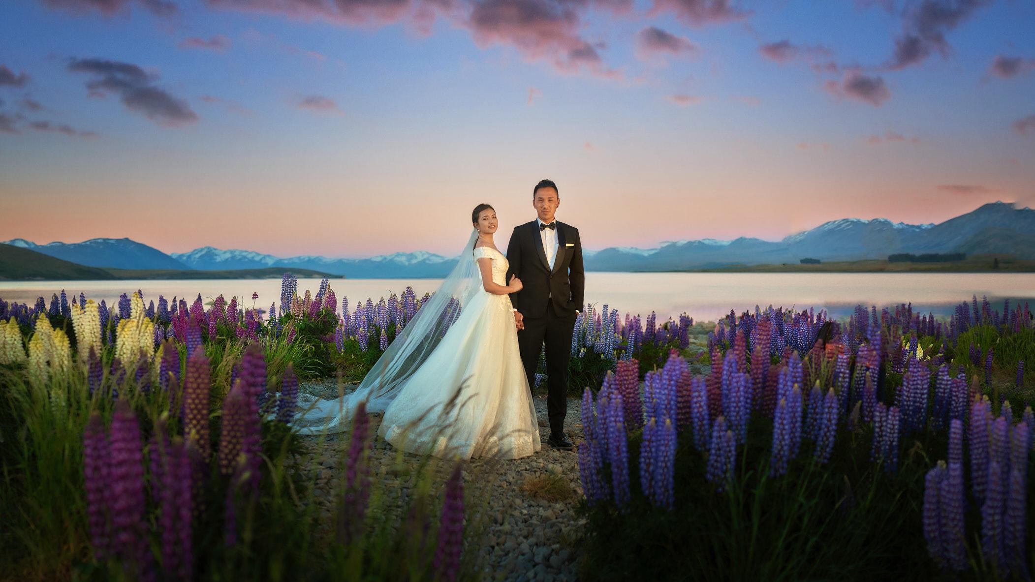 Lake Front Wedding - Lupins