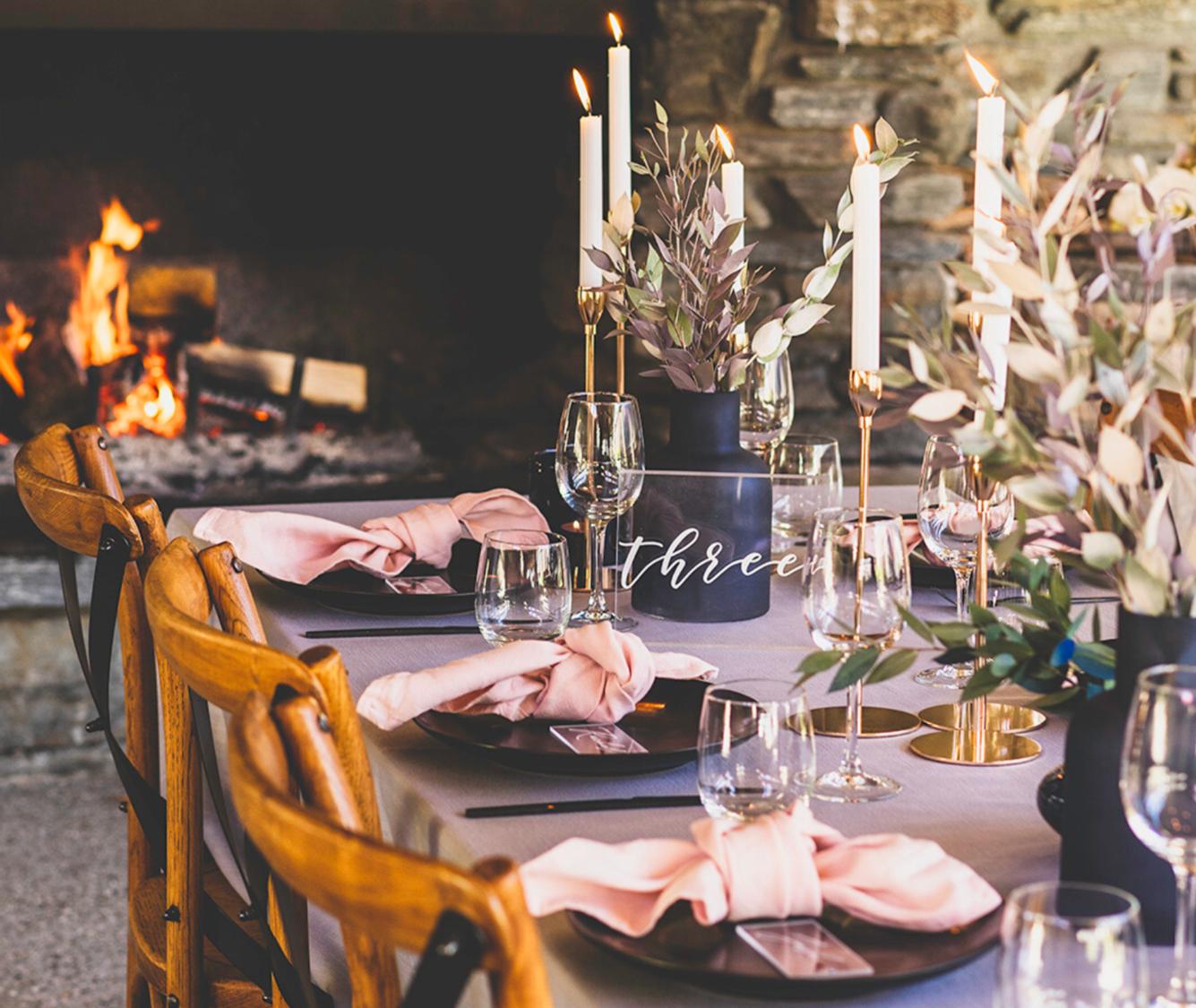 Winehouse Wedding Setup