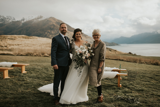 Phillipa Cook Celebrant poses with couple