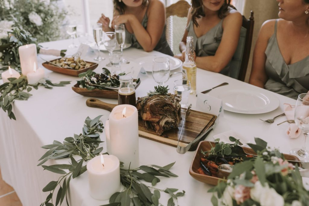 Double Thyme Sharing Plates on Top Table