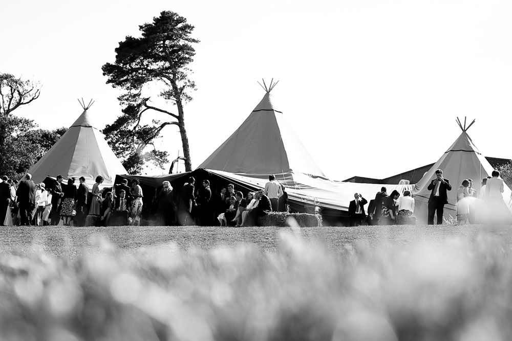 Tipi with guests