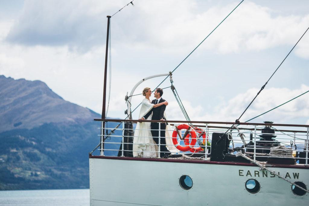 Wedding Couple on Earnslaw