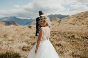 Dannielle and Sam Hand Lead Mountain Shot