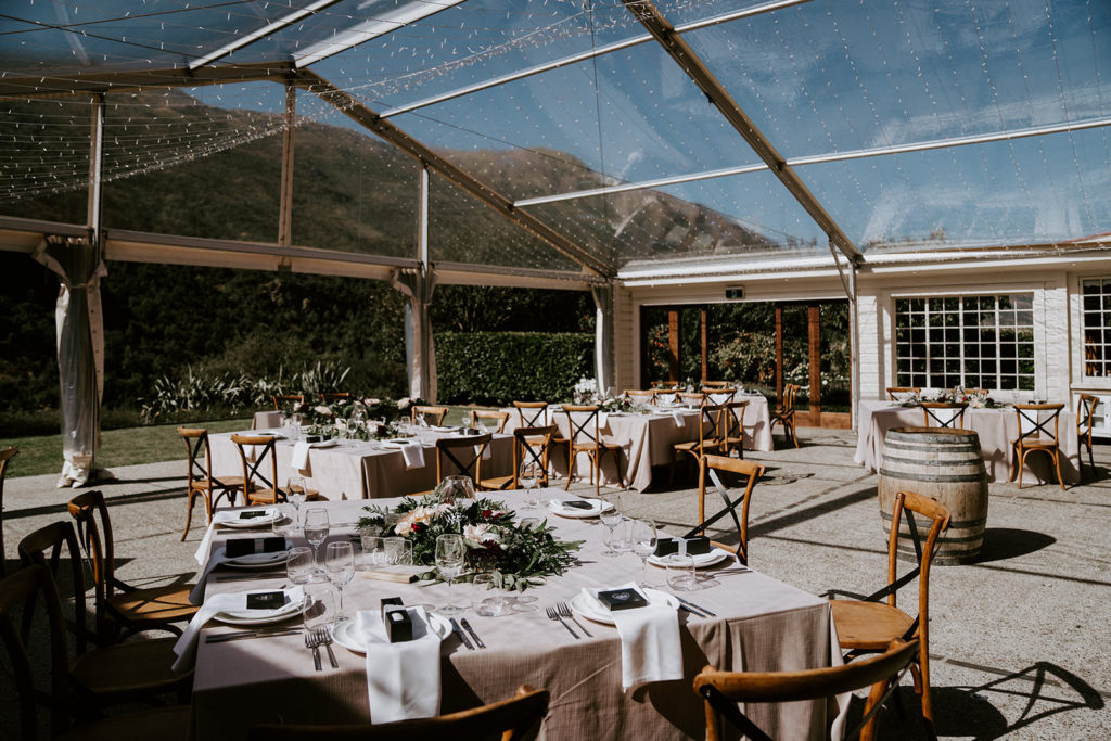Table Setting under Canopy