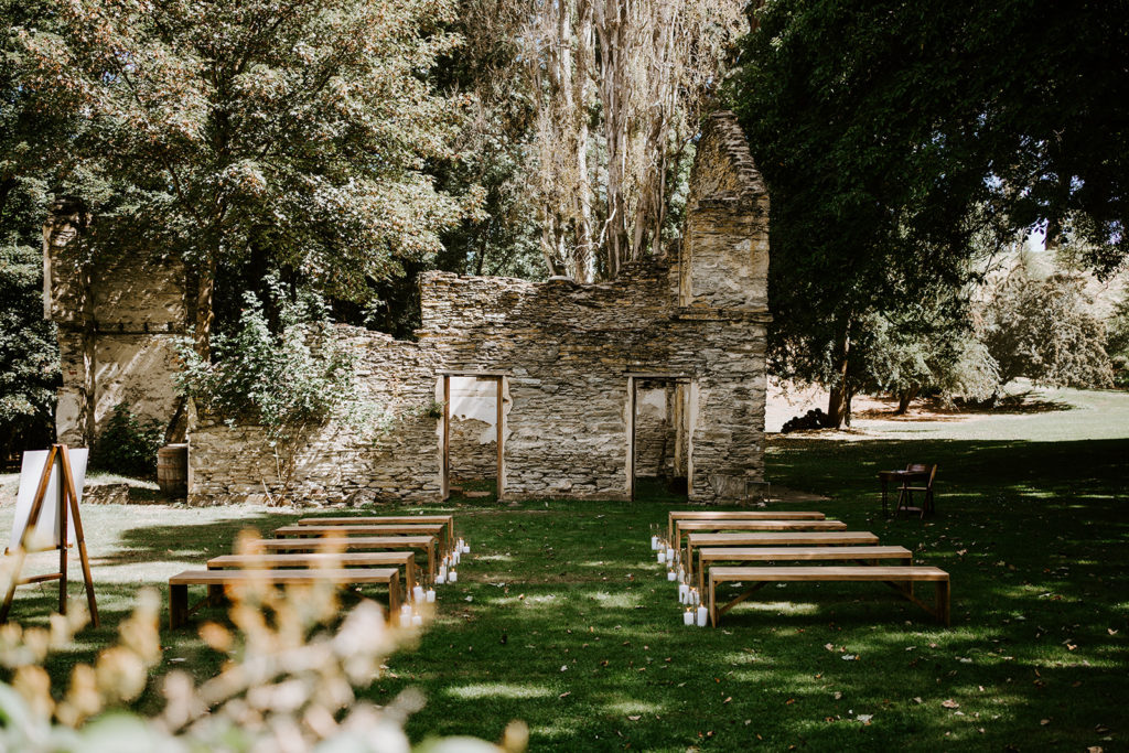 Tracey and Jarrod Thurlby Wooden Benches and The Ruins